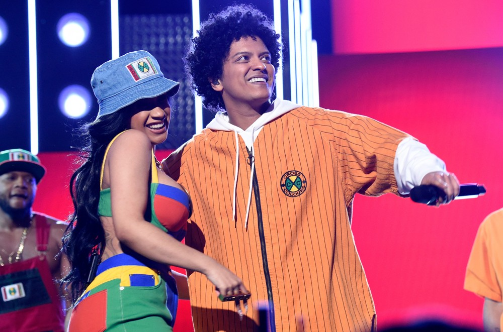 Bruno Mars Cardi B S Finesse Leaps To No 1 On The R Songs Airplay Chart Dated April 28 With A 3 Jump Song Climbs 6 Percent In Plays